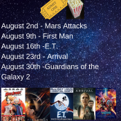 August Movie Line-Up