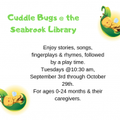 Cuddle Bugs @ the Seabrook Library