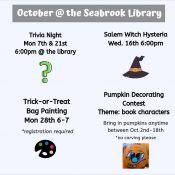 October @ the Seabrook Library