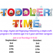 Toddler Time @ the Seabrook Library