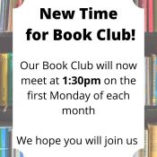 Book Club Meeting at a New Time