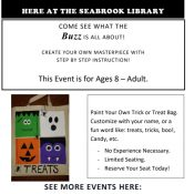 Paint-Your-Own Treat Bag @ the Library!!!