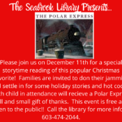 The Polar Express is coming to Seabrook!!!!  December 11th @ 4:00 & 6:00.